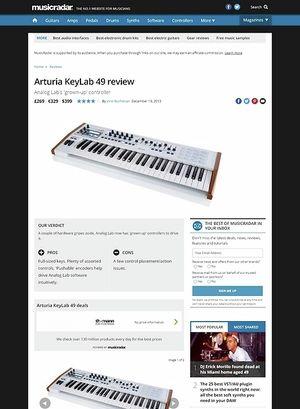 MusicRadar.com Arturia KeyLab 49