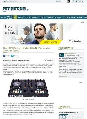 Amazona.de Test: Native Instruments Kontrol S2 MK2, DJ-Controller