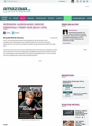 Amazona.de Rezension: Hudson Music Groove Essentials / Tommy Igoe (Buch / DVD)