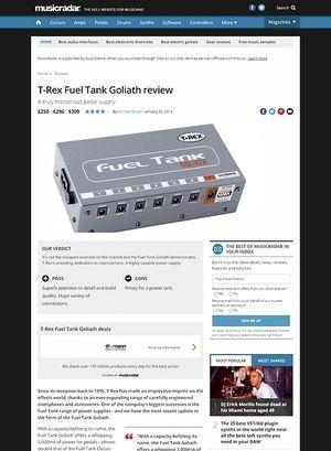 MusicRadar.com T-Rex Fuel Tank Goliath