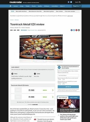 MusicRadar.com Toontrack Metal! EZX