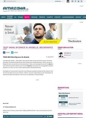 Amazona.de Test: MEINL Byzance XL Modelle, Beckensatz