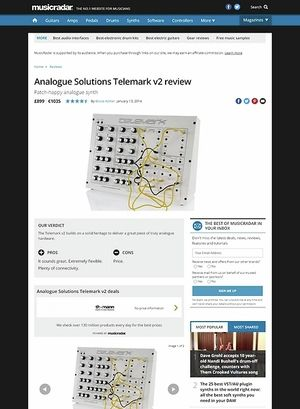 MusicRadar.com Analogue Solutions Telemark v2