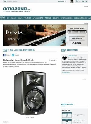 Amazona.de Test: JBL LSR 308, Monitore