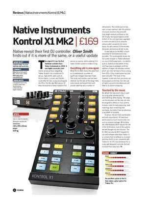 Future Music Native Instruments Kontrol X1 Mk2