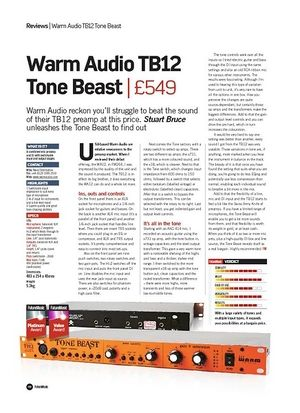 Future Music Warm Audio TB12 Tone Beast