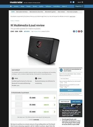 MusicRadar.com IK Multimedia iLoud
