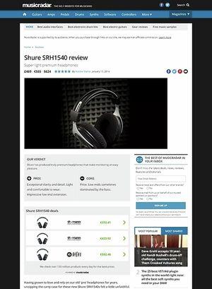 MusicRadar.com Shure SRH1540