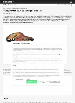 Bonedo.de Harley Benton JB75 SB Vintage Series Test