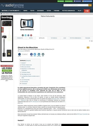 Audiofanzine.com Native Instruments Maschine Studio