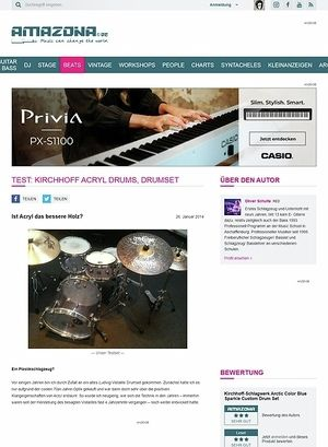 Amazona.de Test: Kirchhoff Acryl Drums, Drumset