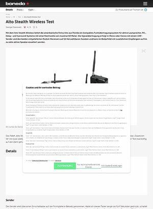 Bonedo.de Alto Stealth Wireless Test