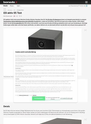 Bonedo.de ESI aktiv 05 Test