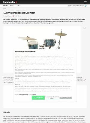 Bonedo.de Ludwig Breakbeats Drumset Test