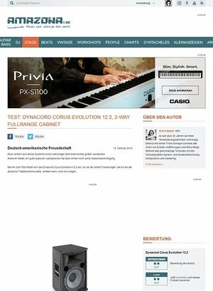 Amazona.de Test: Dynacord Corus Evolution 12.2, 2-Way Fullrange Cabinet