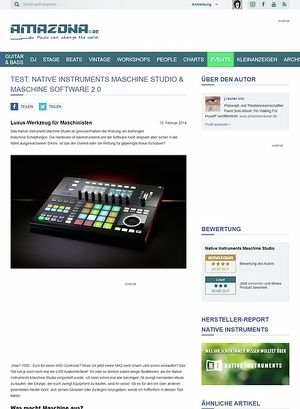 Amazona.de Test: Native Instruments Maschine Studio & Maschine Software 2.0