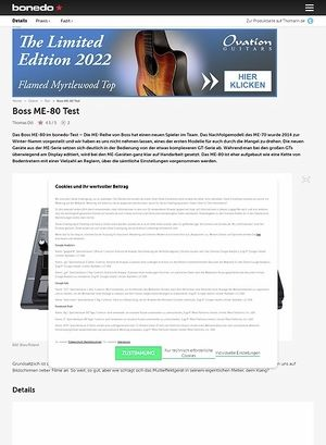 Bonedo.de Boss ME-80