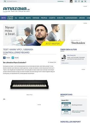 Amazona.de Test: Kawai VPC1, USB/MIDI-Controllerkeyboard