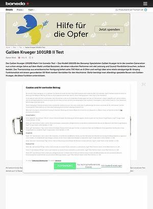 Bonedo.de Gallien Krueger 1001RB II Test