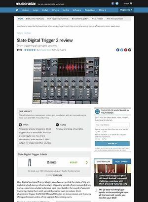 MusicRadar.com Slate Digital Trigger 2