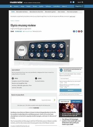 MusicRadar.com Elysia museq