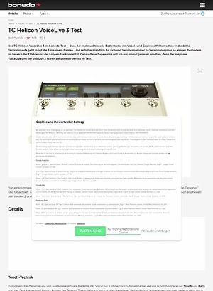Bonedo.de TC Helicon VoiceLive 3 Test Preview