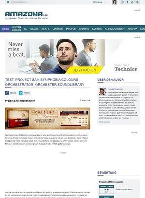 Amazona.de Test: Project SAM Symphobia Colours Orchestrator, Orchester Soundlibrary