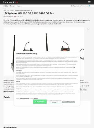 Bonedo.de LD Systems MEI 100 G2 & MEI 1000 G2