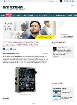 Amazona.de Test: Electro Harmonix Superego, Effektpedal für Gitarre und Bass
