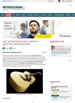 Amazona.de Test: Maton EBG808 Tommy Emmanuel Signature, Westerngitarre