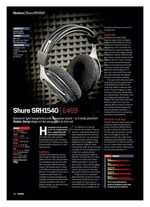 Future Music Shure SRH1540