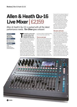 Future Music Allen & Heath Qu-16 Live Mixer