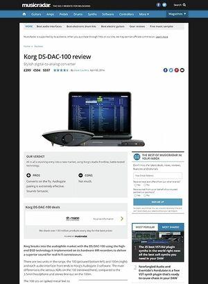 MusicRadar.com Korg DS-DAC-100