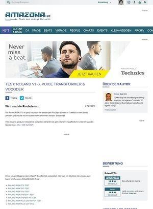 Amazona.de Test: Roland AIRA VT-3, Voice Processor