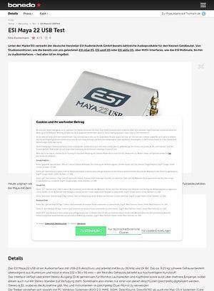 Bonedo.de ESI Maya 22 USB