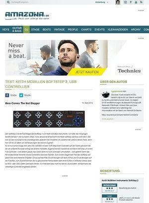 Amazona.de Test: Keith McMillen SoftStep 2, USB Controller