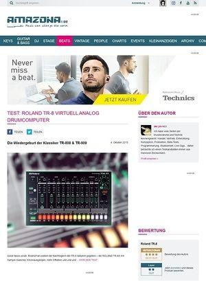 Amazona.de Test: Roland TR-8, Rhythm Performer