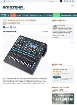 Amazona.de Special: Allen&Heath Qu-16, AR2412, ME-1, Digital Mixer