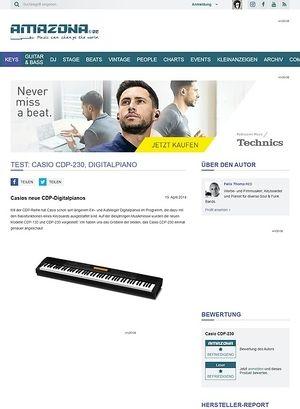 Amazona.de Test: Casio CDP-230, Digitalpiano