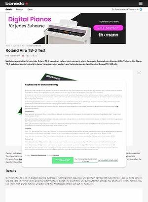 Bonedo.de ROLAND Aira TB-3