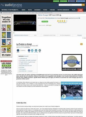 Audiofanzine.com Gallien Krueger MB Fusion 800