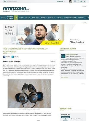 Amazona.de Test: Sennheiser HD7 DJ und HD8 DJ, DJ-Kopfhörer