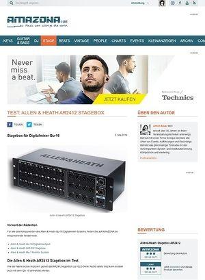 Amazona.de Special: Allen&Heath Qu-16, AR2412, ME-1, Digital Mixer