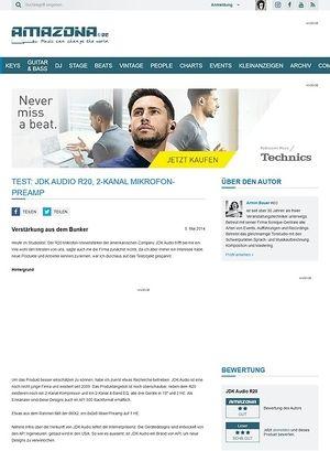Amazona.de Test: JDK Audio R20, 2-Kanal Mikrofon-Preamp