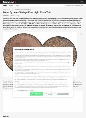 Bonedo.de Meinl Byzance Vintage Pure Light Rides Test
