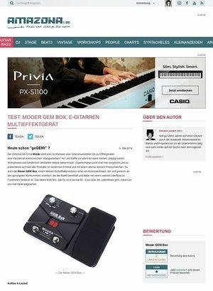 Amazona.de Test: Mooer GEM Box, E-Gitarren Multieffektgerät