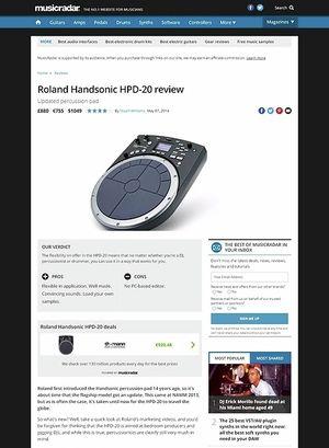 MusicRadar.com Roland Handsonic HPD-20
