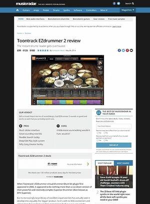 MusicRadar.com Toontrack EZdrummer 2