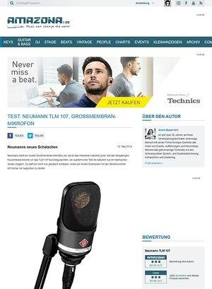 Amazona.de Test: Neumann TLM 107, Großmembran-Mikrofon