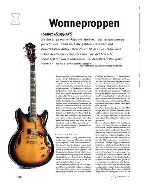 Gitarre & Bass Ibanez AS153-AYS, Semiakustik-E-Gitarre